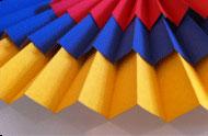 Stoffmuster für die Plissee Kollektion Basic