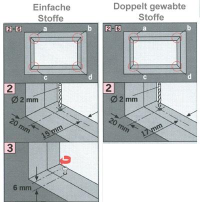 Zeichnung zur Vereinfachung der Montage.