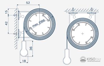 Universalträger für Montage von Maxi-Rollos.