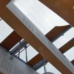 Plissee für Plafondfenster, elektrisch.