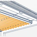 Technisches Detail von Plafondplissees.