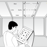 Aufmaßskizze für Plafondplissees.