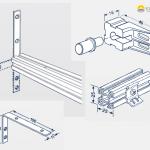 Verschiedene Montagemodelle für Plafondplissees.