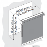 Skizze einer Nischenmontage.
