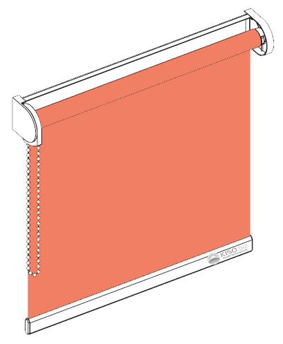 Ein klassisches Seitenzugrollo.