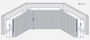 Zeichnung einer Vertikalanlage in einem Erker.
