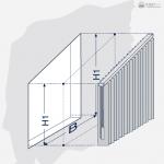 Darstellung einer schrägen Vertikalanlage.