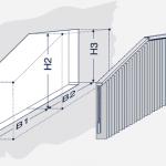 Darstellung einer schrägen Vertikalanlage mit Knick.