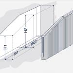 Darstellung einer schrägen Vertikalanlage mit geradem Ende.