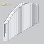 Vertikalanlage in einem Bogen mit geraden Enden.